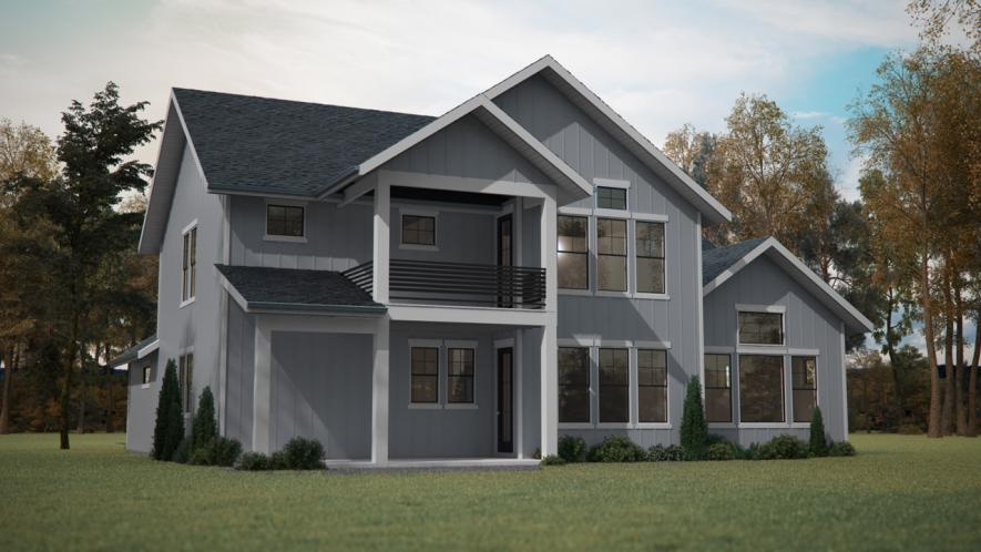 Traditional House Plan - Turkey Creek 58716 - Rear Exterior