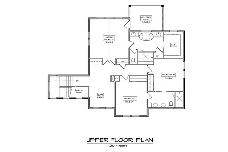 Traditional House Plan - Turkey Creek 58716 - 2nd Floor Plan