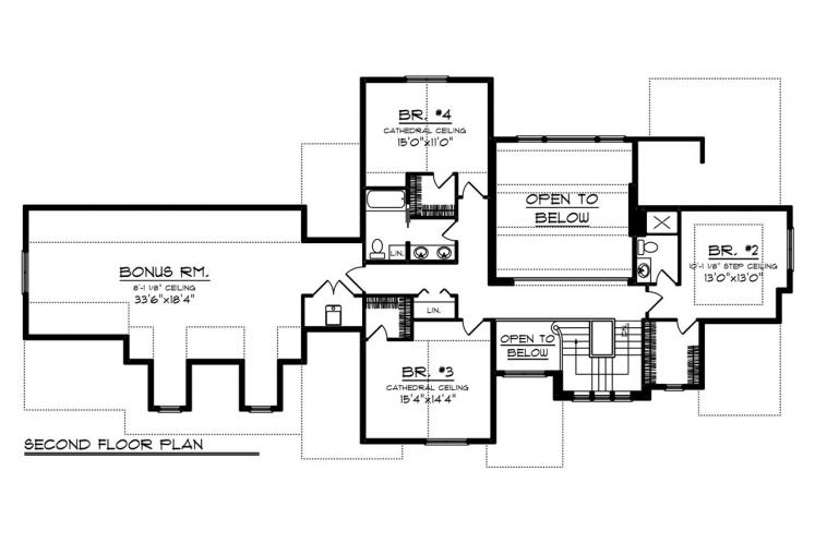 Classic House Plan -  58782 - 2nd Floor Plan