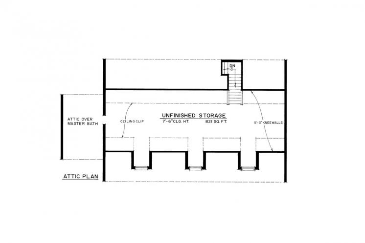 Colonial House Plan -  58838 - Other Floor Plan