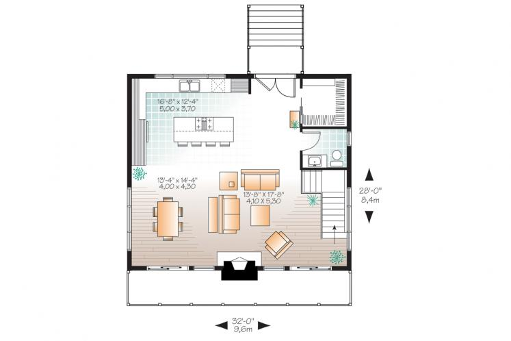 Farmhouse House Plan - Dahilia 58853 - 1st Floor Plan