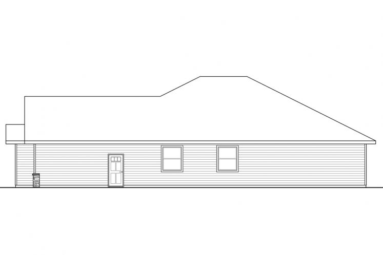 Traditional House Plan - Baileyville 58863 - Left Exterior