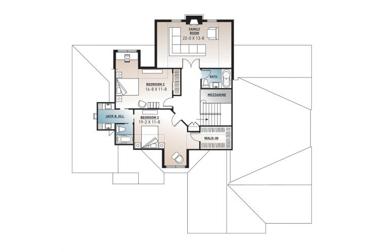 Farmhouse House Plan - Lancaster 58893 - 2nd Floor Plan