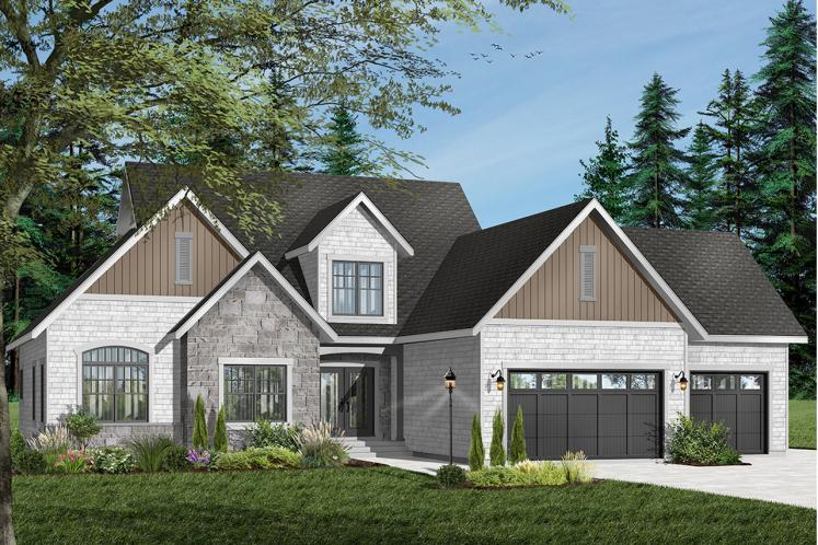 Country House Plan - Lancaster 58893 - Front Exterior