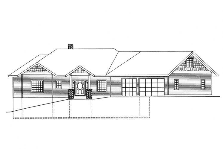 Lodge Style House Plan -  59042 - Front Exterior