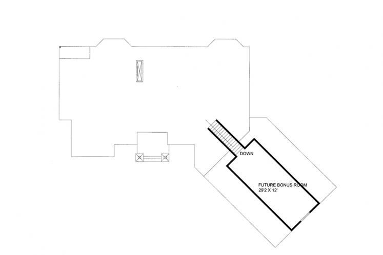 Lodge Style House Plan -  59042 - 2nd Floor Plan