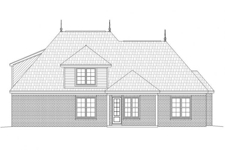 Classic House Plan -  59124 - Rear Exterior