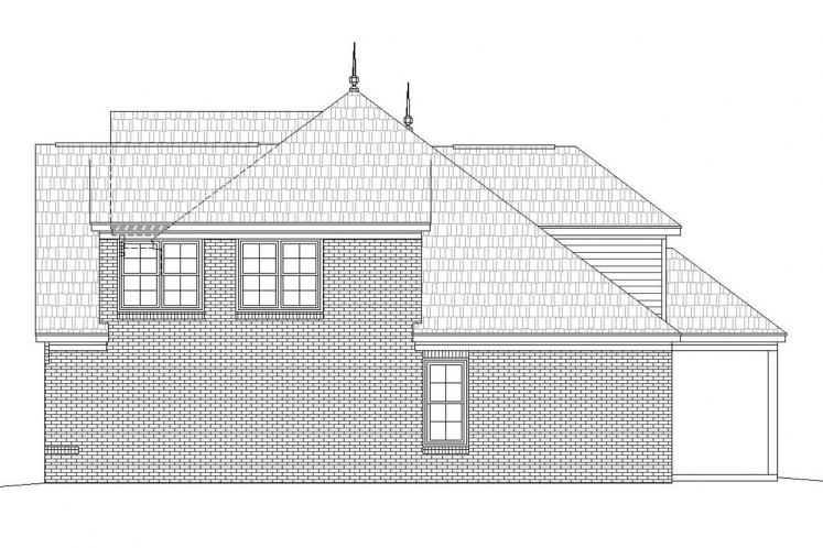 Colonial House Plan -  59124 - Right Exterior