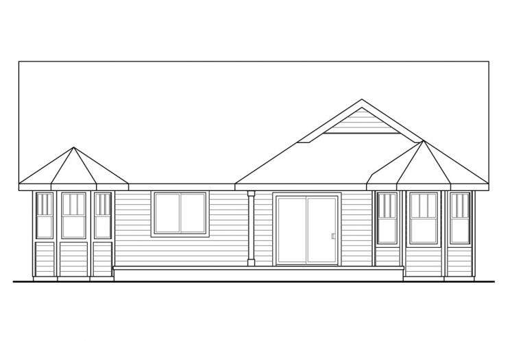 Cottage House Plan - Callahan 59137 - Rear Exterior