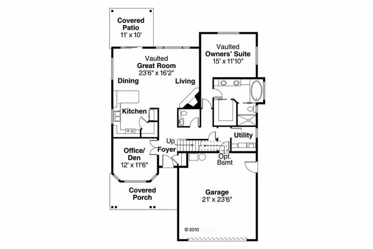 Country House Plan - Elkhorn 59221 - 1st Floor Plan