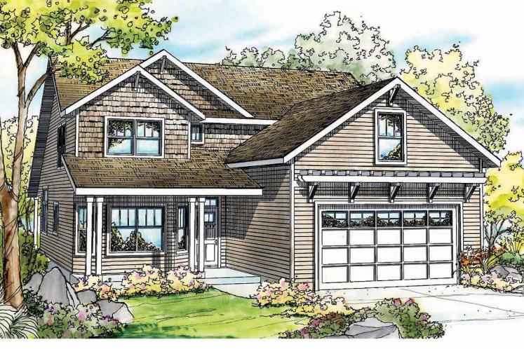 Cottage House Plan - Elkhorn 59221 - Front Exterior