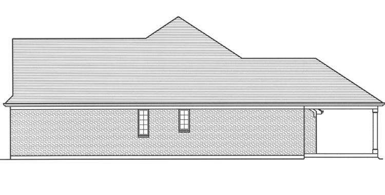 Ranch House Plan - Antioch 59226 - Right Exterior