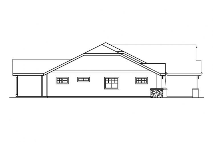 Ranch House Plan - Grayson 59272 - Left Exterior