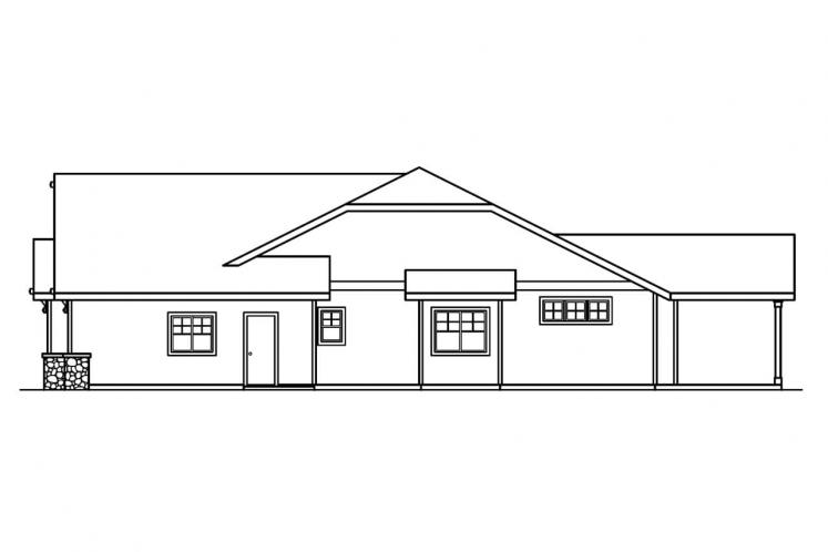 Craftsman House Plan - Grayson 59272 - Right Exterior
