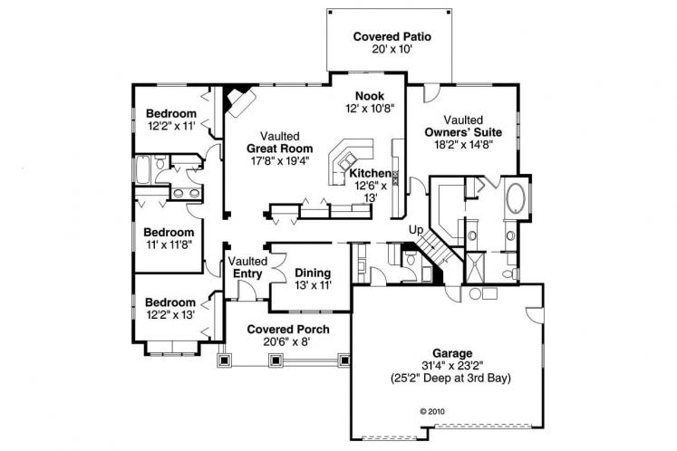Country House Plan - Grayson 59272 - 1st Floor Plan
