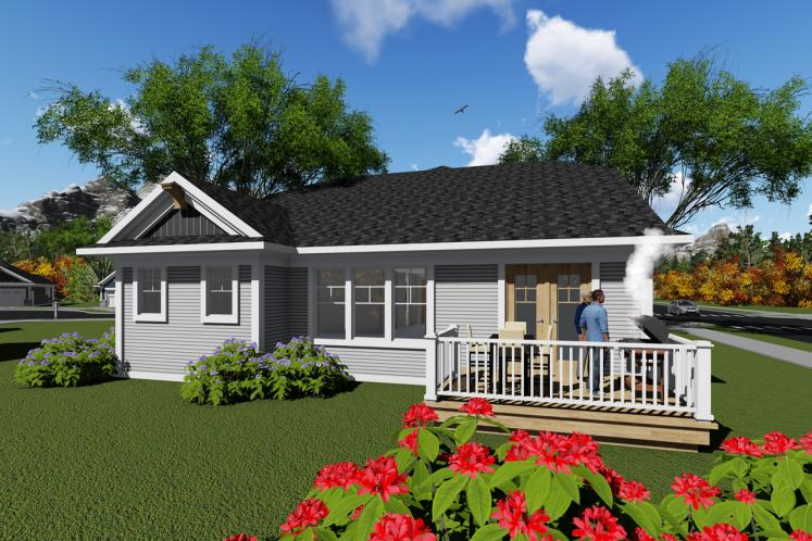 Cottage House Plan -  59290 - Rear Exterior