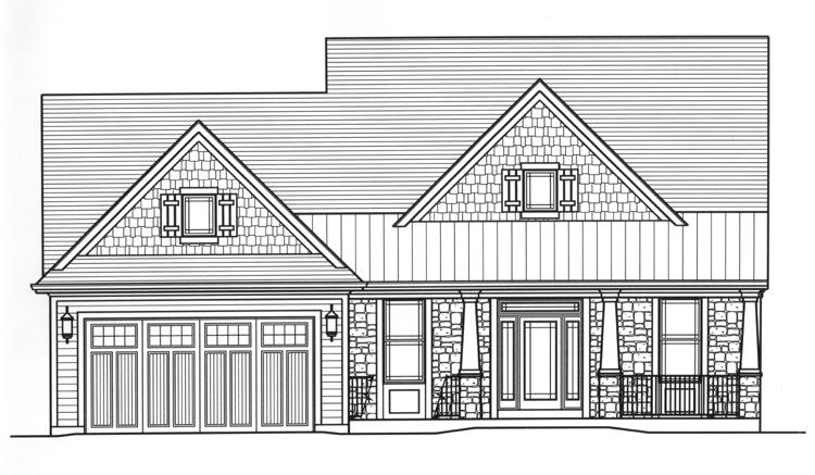 Country House Plan - The Sorento 59294 - Front Exterior