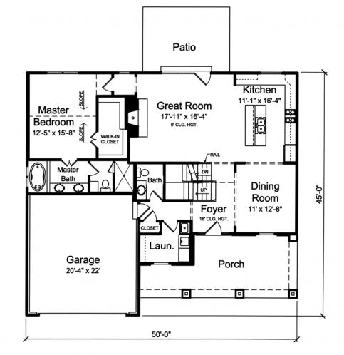 Country House Plan - The Sorento 59294 - 1st Floor Plan