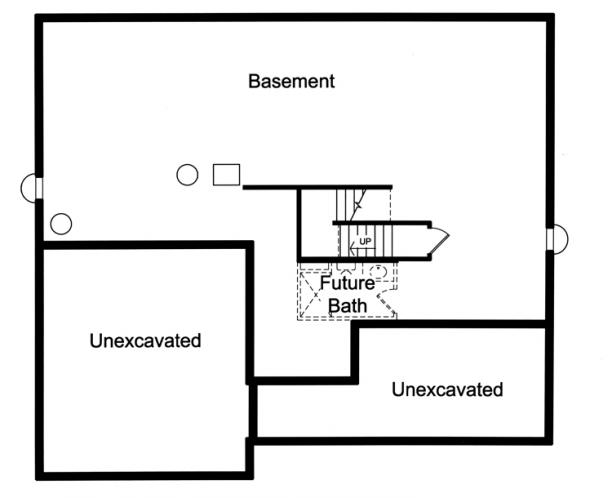 Contemporary House Plan - The Sorento 59294 - Basement Floor Plan