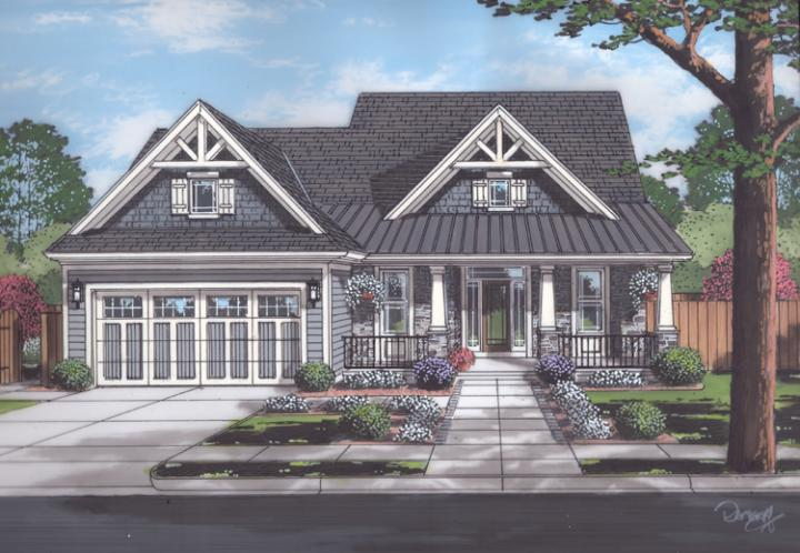 Craftsman House Plan - The Sorento 59294 - Front Exterior