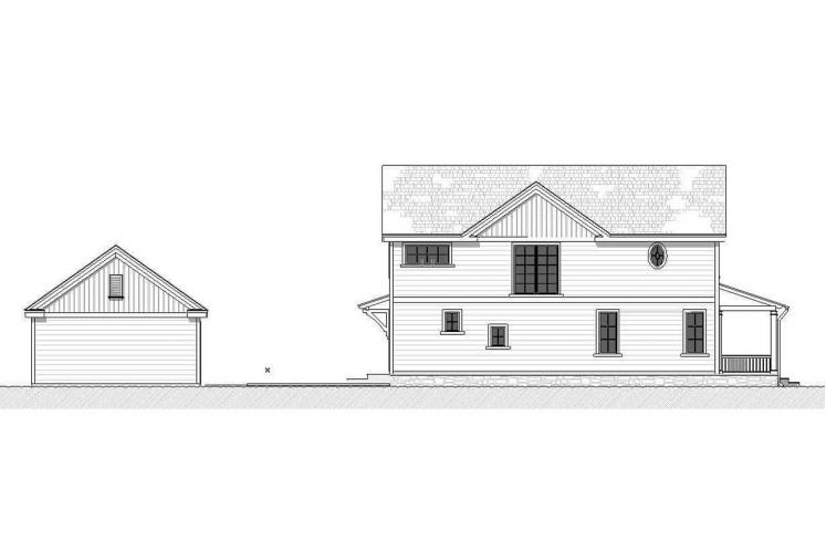 Farmhouse House Plan - Lansing 59312 - Left Exterior