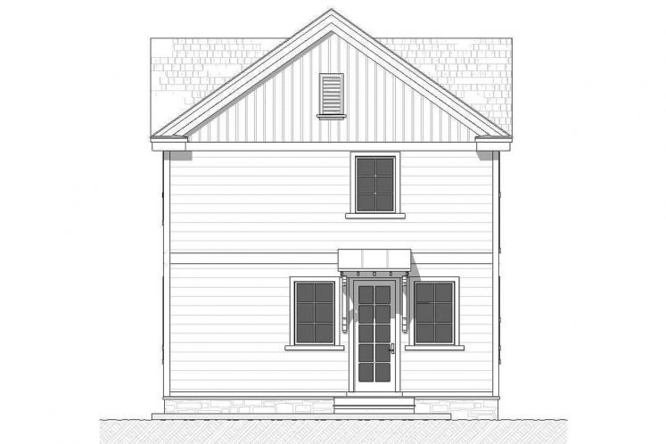 Farmhouse House Plan - Lansing 59312 - Rear Exterior