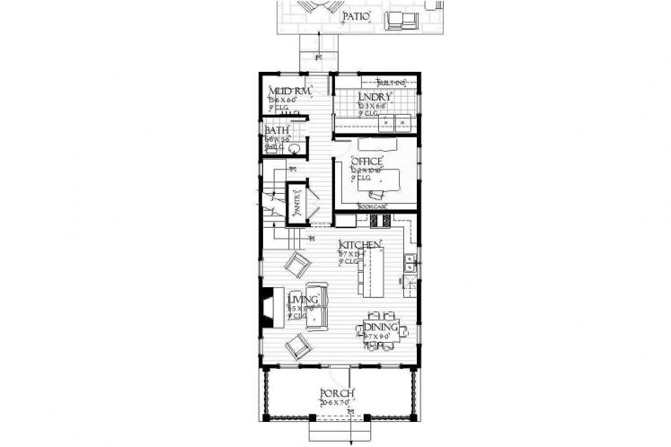 Farmhouse House Plan - Lansing 59312 - 1st Floor Plan