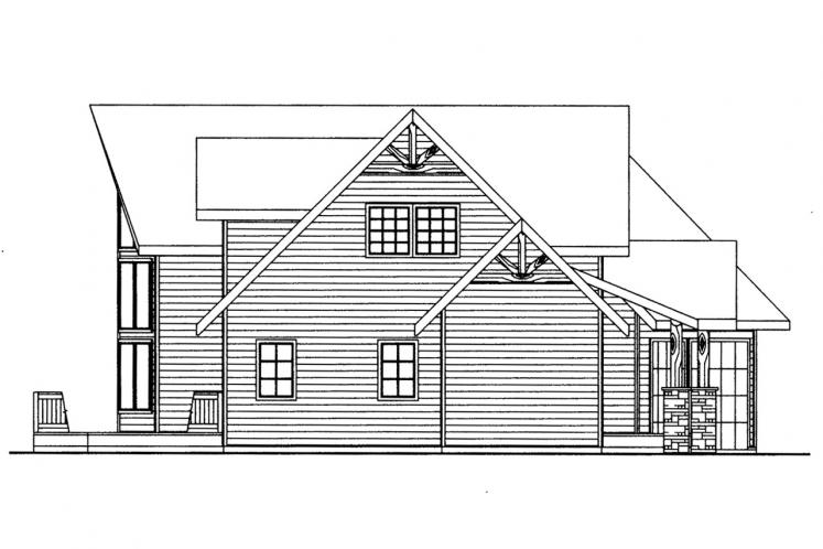 Lodge Style House Plan -  59348 - Left Exterior