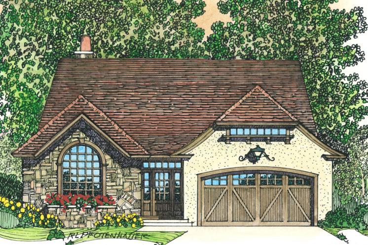 European House Plan -  59357 - Front Exterior