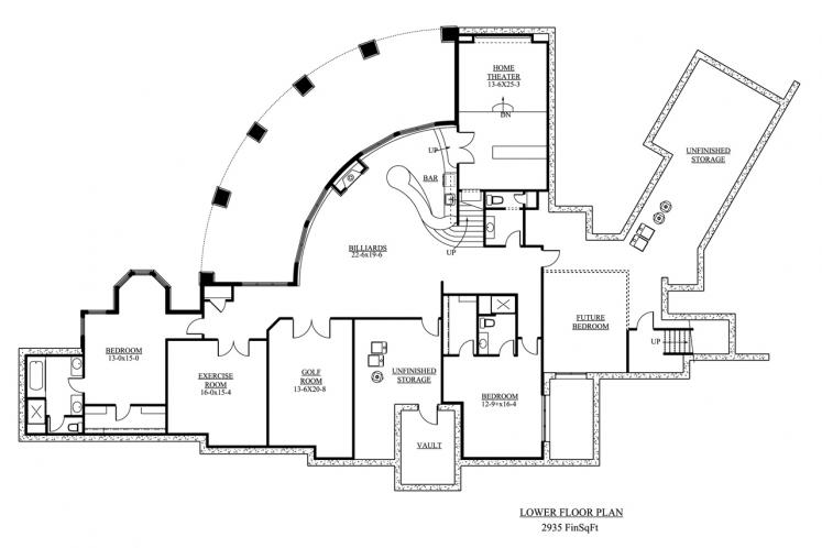 European House Plan - Sterling 59582 - Basement Floor Plan