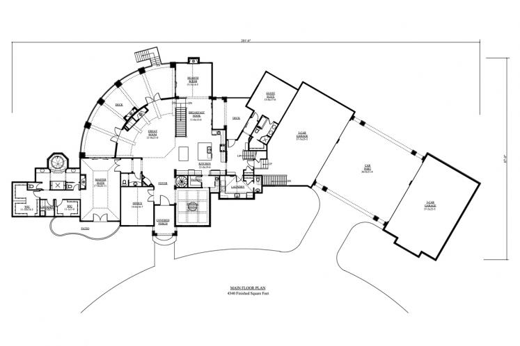 European House Plan - Sterling 59582 - 1st Floor Plan