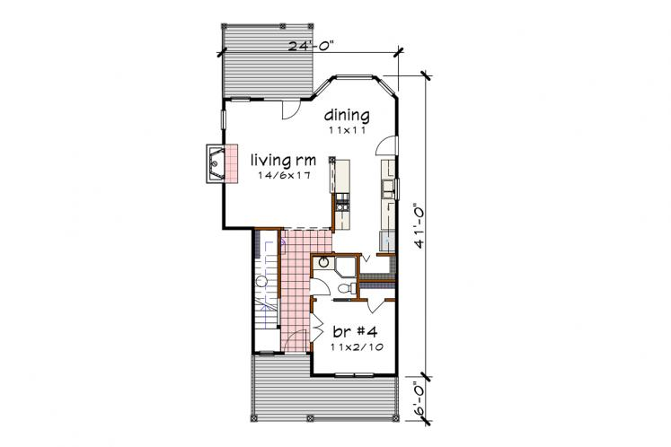 Country House Plan -  59589 - 1st Floor Plan