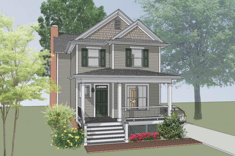 Country House Plan -  59589 - Front Exterior