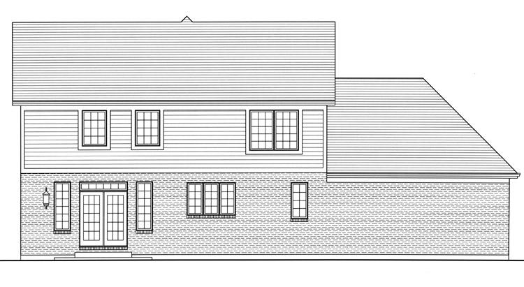 Country House Plan - The Shalimar 59608 - Rear Exterior