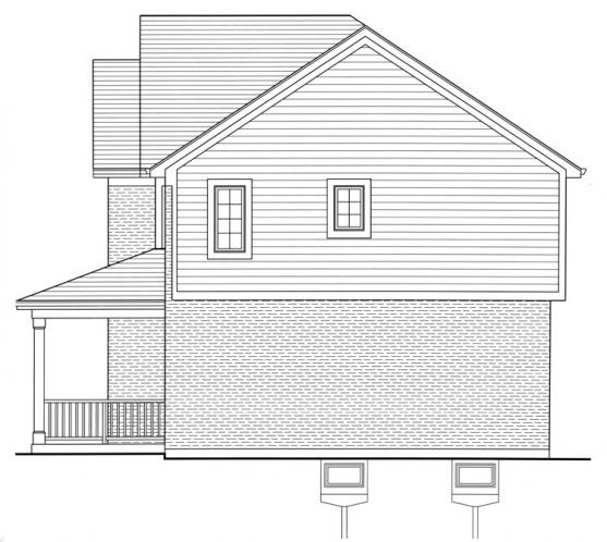 Traditional House Plan - The Shalimar 59608 - Right Exterior