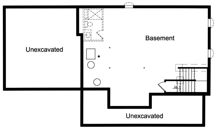 Country House Plan - The Shalimar 59608 - Basement Floor Plan