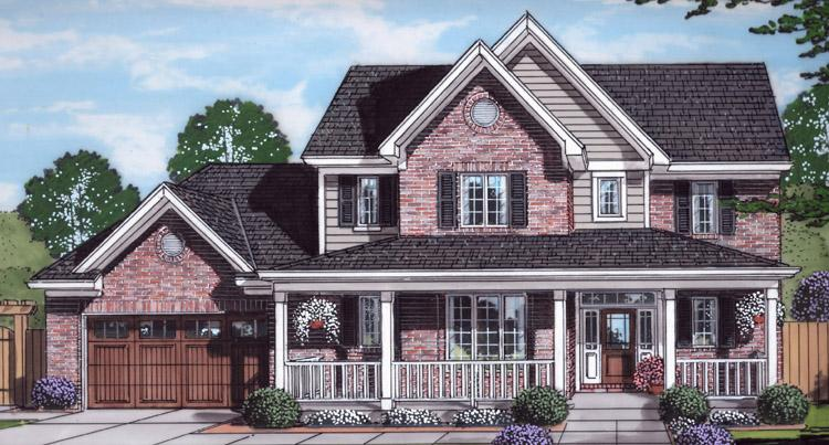 Country House Plan - The Shalimar 59608 - Front Exterior