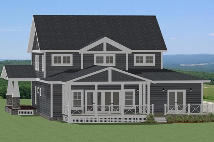 Bungalow House Plan - Camden 59920 - Rear Exterior