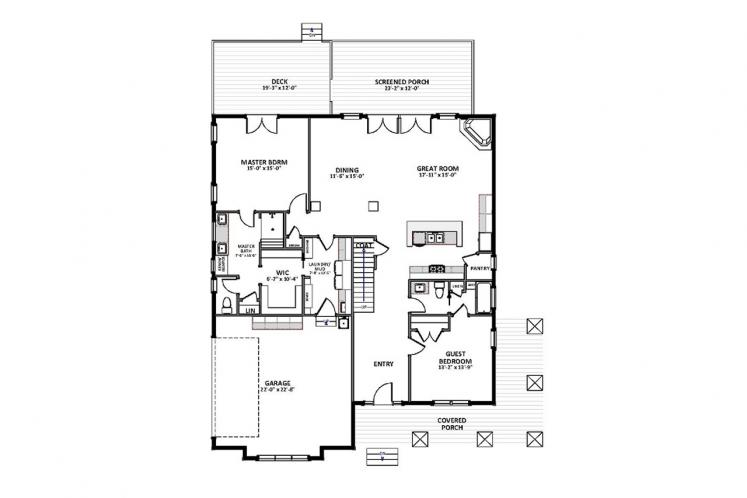 Bungalow House Plan - Camden 59920 - 1st Floor Plan