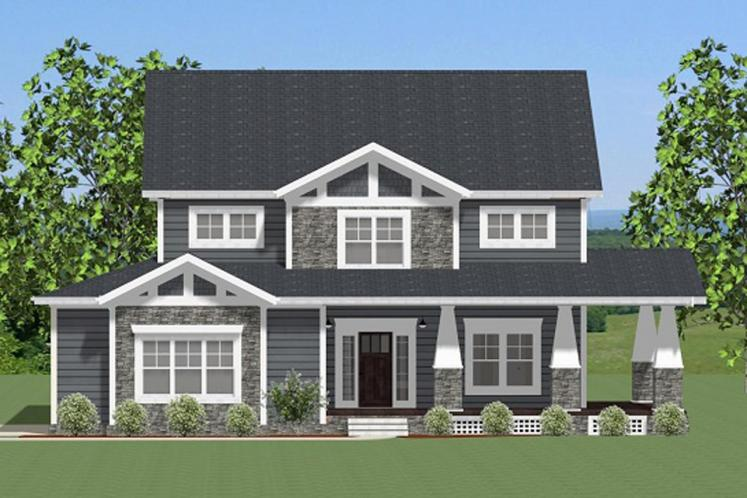 Craftsman House Plan -  59920 - Front Exterior