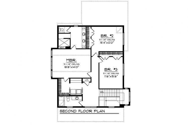 Country House Plan -  60012 - 2nd Floor Plan