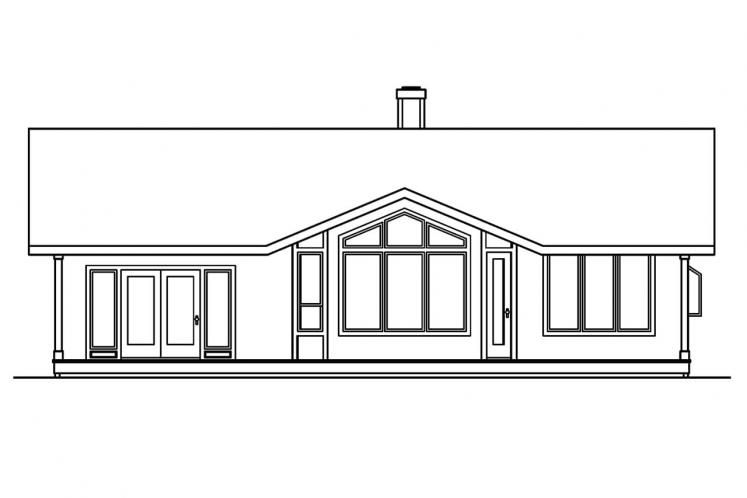 Cape Cod House Plan - Connelly  60058 - Rear Exterior