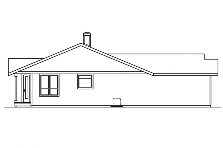 Traditional House Plan - Connelly  60058 - Left Exterior