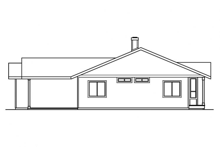 Ranch House Plan - Connelly  60058 - Right Exterior