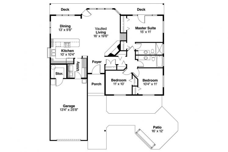 Cape Cod House Plan - Connelly  60058 - 1st Floor Plan