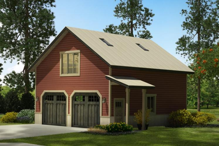 Country Garage Plan -  39367 - Front Exterior