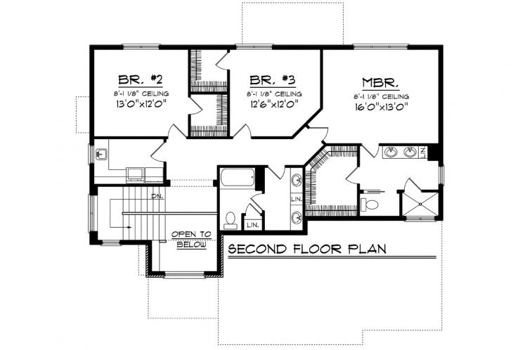 Traditional House Plan -  60120 - 2nd Floor Plan