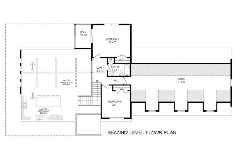 Country House Plan - Mohawk 60181 - 2nd Floor Plan