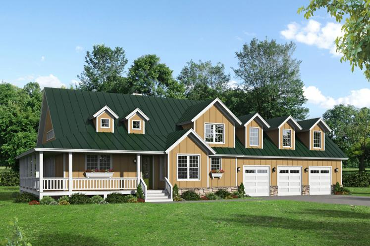 Country House Plan - Mohawk 60181 - Front Exterior