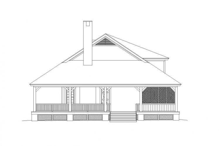 Cottage House Plan -  60318 - Rear Exterior